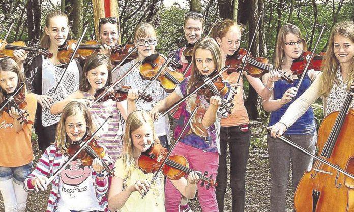 Das Kinder- und Jugendstreichorchester der Kreismusikschule Wildeshausen gibt am Sonnabend ein Konzert im Skulpturen-Park von Franz Robert Czieslik in Groß Ippener Foto: Kreiszeitung