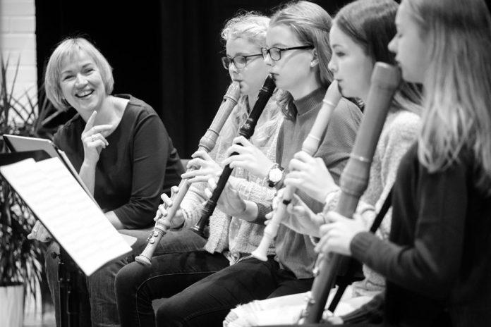 Blockfloetenensemble der Musikschule des Landkreises Oldenburg. Leitung: Martina Bley