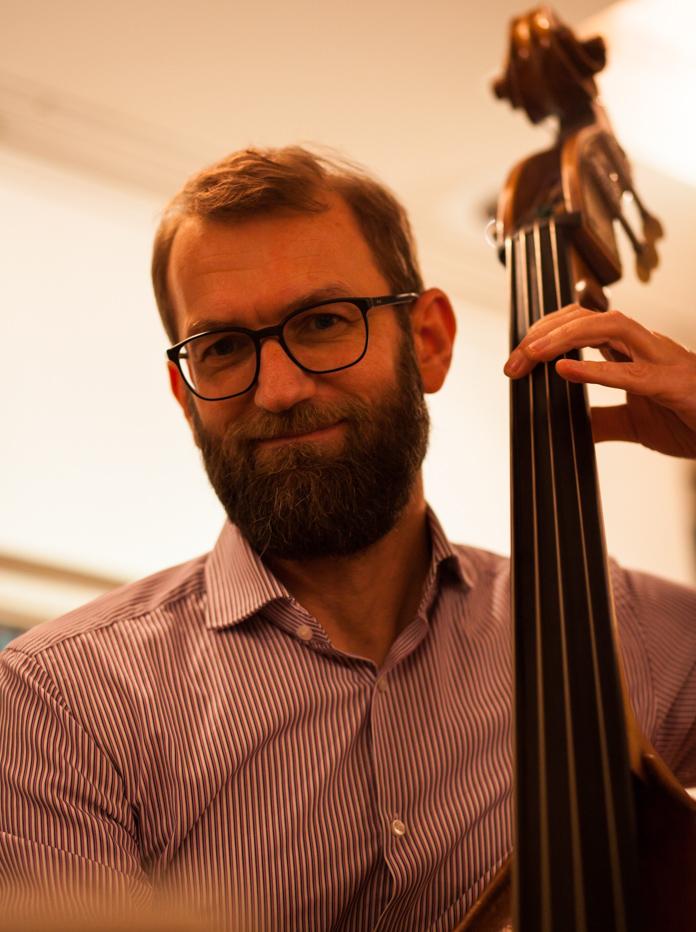 Musikschule des Landkreises Oldenburg, Dozentenkonzert Jazz 5.2.2017, Haus Müller, Ganderkesee: Thomas Milowski, Kontrabass